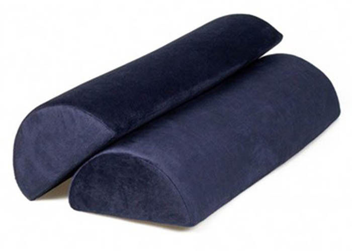 Cotton Cover High Density Travel Foot Rest Pillow Pain Relief With Non - Slip Cover