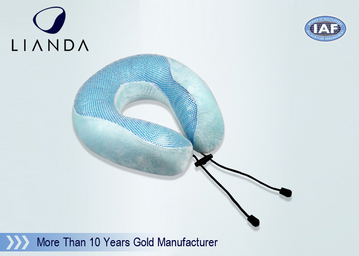 Medical Round Adult Cooling Gel Pillow Blue Folding For Neck Massage