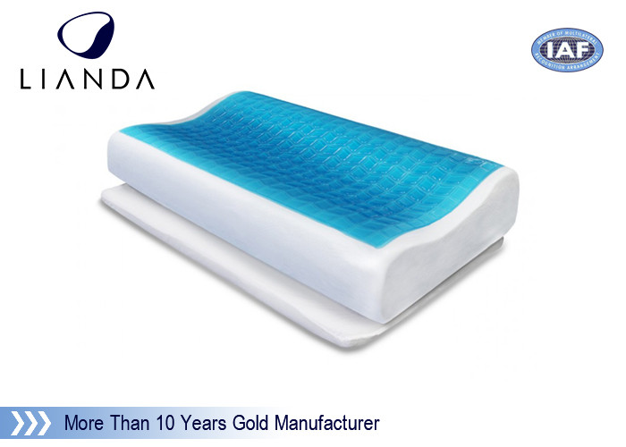 ECO - Friendly Fabric Memory Foam Bed Pillow With Mite And Allergen Proof Cover