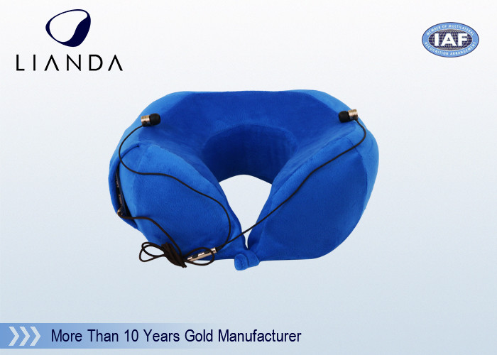 Customized Travel Neck Pillow Patented With A Pocket At One Side For Mobile Phone
