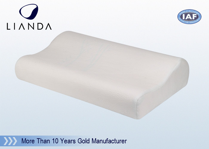 Comfort Bamboo Fabrc Memory Foam Pillows White For Hotel SGS