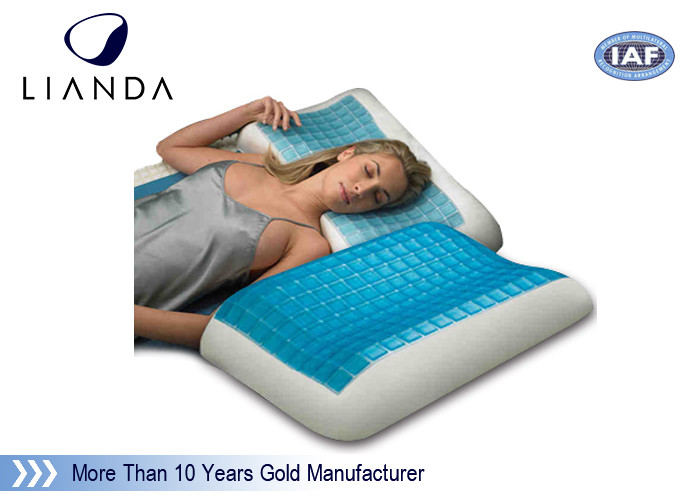 Blue Arctic Gel Contouring Memory Foam , Bedroom Cool Bed Pillow